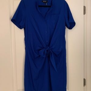Blue DKNY shirt dress